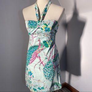 TIBI Peacock Floral Cotton Dress *FINAL Price
